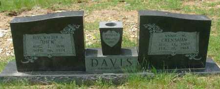 DAVIS, REV., WALTER A. - Pulaski County, Arkansas   WALTER A. DAVIS, REV. - Arkansas Gravestone Photos