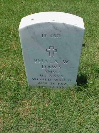 DAWS (VETERAN WWII), PHALA W - Pulaski County, Arkansas   PHALA W DAWS (VETERAN WWII) - Arkansas Gravestone Photos
