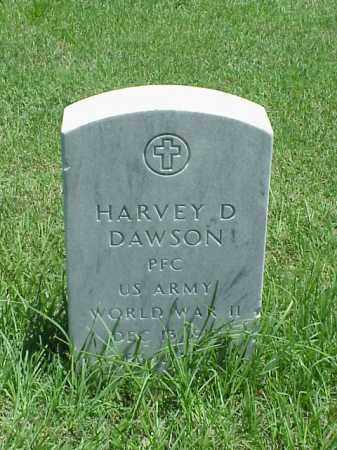 DAWSON (VETERAN WWII), HARVEY D - Pulaski County, Arkansas   HARVEY D DAWSON (VETERAN WWII) - Arkansas Gravestone Photos