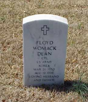 DEAN (VETERAN KOR), FLOYD WOMACK - Pulaski County, Arkansas | FLOYD WOMACK DEAN (VETERAN KOR) - Arkansas Gravestone Photos