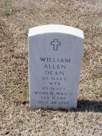 DEAN (VETERAN WWII), WILLIAM ALLEN - Pulaski County, Arkansas | WILLIAM ALLEN DEAN (VETERAN WWII) - Arkansas Gravestone Photos