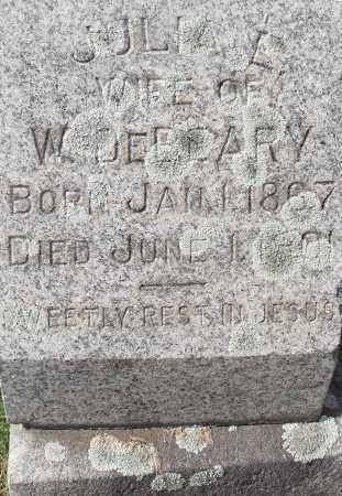 DEBEARY, JULIA E - Pulaski County, Arkansas | JULIA E DEBEARY - Arkansas Gravestone Photos