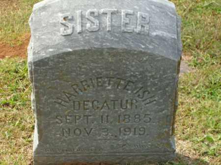 ISH DECATUR, HARRIETTE - Pulaski County, Arkansas | HARRIETTE ISH DECATUR - Arkansas Gravestone Photos