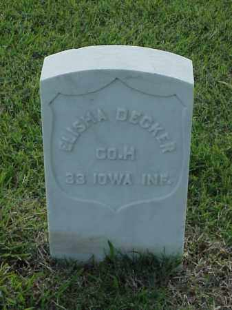 DECKER (VETERAN UNION), ELISHA - Pulaski County, Arkansas | ELISHA DECKER (VETERAN UNION) - Arkansas Gravestone Photos