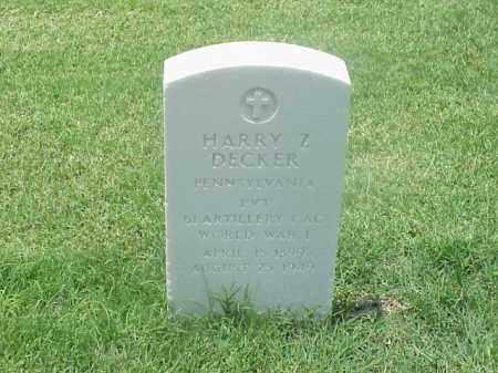 DECKER (VETERAN WWI), HARRY Z - Pulaski County, Arkansas   HARRY Z DECKER (VETERAN WWI) - Arkansas Gravestone Photos