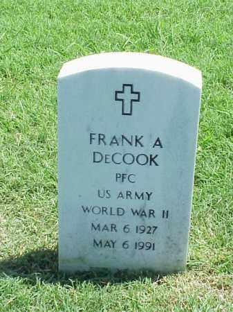 DECOOK (VETERAN WWII), FRANK A - Pulaski County, Arkansas | FRANK A DECOOK (VETERAN WWII) - Arkansas Gravestone Photos