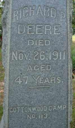 DEERE, RICHARD P. (CLOSE UP) - Pulaski County, Arkansas   RICHARD P. (CLOSE UP) DEERE - Arkansas Gravestone Photos