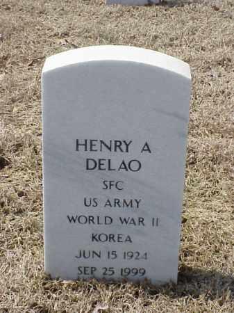 DELAO  (VETERAN 2 WARS), HENRY A - Pulaski County, Arkansas | HENRY A DELAO  (VETERAN 2 WARS) - Arkansas Gravestone Photos