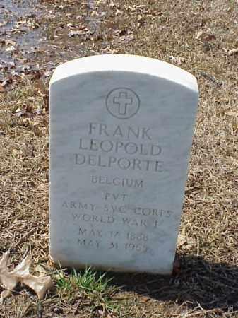 DELPORTE (VETERAN WWI), FRANK LEOPOLD - Pulaski County, Arkansas | FRANK LEOPOLD DELPORTE (VETERAN WWI) - Arkansas Gravestone Photos