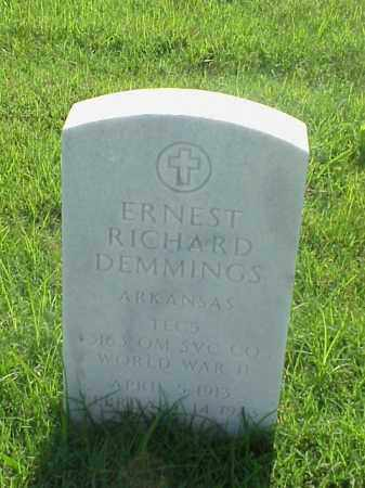 DEMMINGS (VETERAN WWII), ERNEST RICHARD - Pulaski County, Arkansas   ERNEST RICHARD DEMMINGS (VETERAN WWII) - Arkansas Gravestone Photos