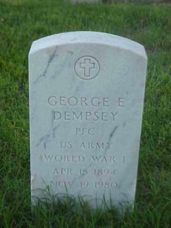 DEMPSEY (VETERAN WWI), GEORGE E - Pulaski County, Arkansas | GEORGE E DEMPSEY (VETERAN WWI) - Arkansas Gravestone Photos