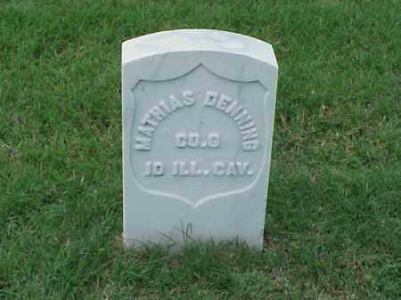 DENNING (VETERAN UNION), MATTHIAS - Pulaski County, Arkansas   MATTHIAS DENNING (VETERAN UNION) - Arkansas Gravestone Photos