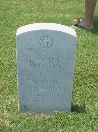 DENTON (VETERAN WWI), DAVID E - Pulaski County, Arkansas | DAVID E DENTON (VETERAN WWI) - Arkansas Gravestone Photos