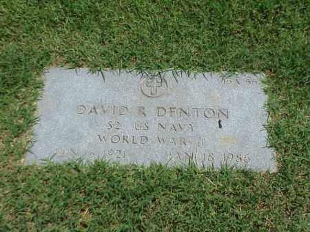 DENTON (VETERAN WWII), DAVID R - Pulaski County, Arkansas | DAVID R DENTON (VETERAN WWII) - Arkansas Gravestone Photos