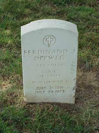 DEPWEG (VETERAN WWI), FERDINAND J - Pulaski County, Arkansas | FERDINAND J DEPWEG (VETERAN WWI) - Arkansas Gravestone Photos