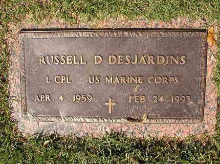 DESJARDINS (VETERAN), RUSSELL D - Pulaski County, Arkansas   RUSSELL D DESJARDINS (VETERAN) - Arkansas Gravestone Photos