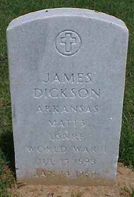 DICKSON (VETERAN WWI), JAMES - Pulaski County, Arkansas   JAMES DICKSON (VETERAN WWI) - Arkansas Gravestone Photos