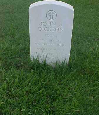 DICKSON (VETERAN WWI), JOHN A - Pulaski County, Arkansas | JOHN A DICKSON (VETERAN WWI) - Arkansas Gravestone Photos