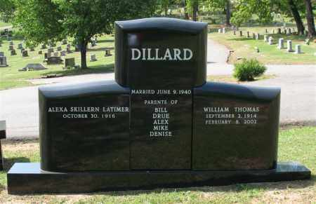 DILLARD (VETERAN WWII), WILLIAM THOMAS - Pulaski County, Arkansas | WILLIAM THOMAS DILLARD (VETERAN WWII) - Arkansas Gravestone Photos