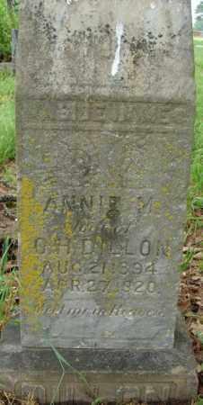 DILLON, ANNIE M. - Pulaski County, Arkansas | ANNIE M. DILLON - Arkansas Gravestone Photos