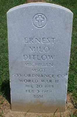DITLOW (VETERAN WWII), ERNEST MILO - Pulaski County, Arkansas | ERNEST MILO DITLOW (VETERAN WWII) - Arkansas Gravestone Photos