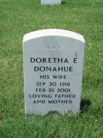 DONAHUE, DORETHA E - Pulaski County, Arkansas | DORETHA E DONAHUE - Arkansas Gravestone Photos