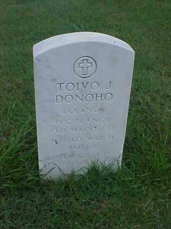 DONOHO (VETERAN 2 WARS), TOIVO J - Pulaski County, Arkansas | TOIVO J DONOHO (VETERAN 2 WARS) - Arkansas Gravestone Photos