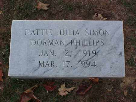 SIMON DORMAN, HATTIE JULIA - Pulaski County, Arkansas | HATTIE JULIA SIMON DORMAN - Arkansas Gravestone Photos
