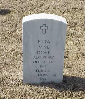 DOVE, ETTA MAE - Pulaski County, Arkansas   ETTA MAE DOVE - Arkansas Gravestone Photos