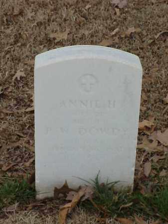 DOWDY, ANNIE H - Pulaski County, Arkansas | ANNIE H DOWDY - Arkansas Gravestone Photos