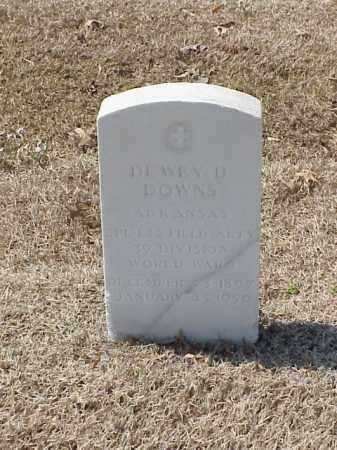 DOWNS (VETERAN WWI), DEWEY D - Pulaski County, Arkansas   DEWEY D DOWNS (VETERAN WWI) - Arkansas Gravestone Photos