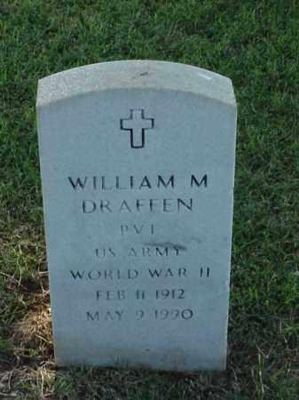 DRAFFEN (VETERAN WWII), WILLIAM M - Pulaski County, Arkansas   WILLIAM M DRAFFEN (VETERAN WWII) - Arkansas Gravestone Photos