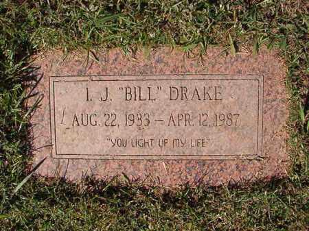 "DRAKE, I J ""BILL"" - Pulaski County, Arkansas | I J ""BILL"" DRAKE - Arkansas Gravestone Photos"