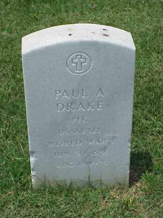 DRAKE (VETERAN WWI), PAUL A - Pulaski County, Arkansas | PAUL A DRAKE (VETERAN WWI) - Arkansas Gravestone Photos