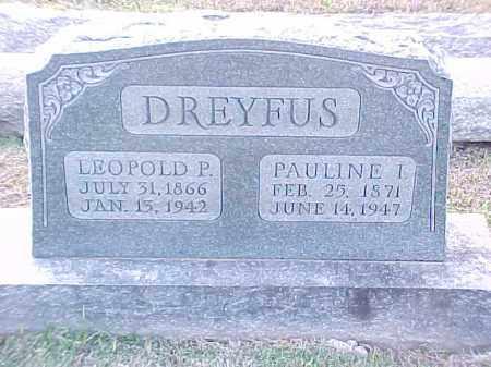 DREYFUS, PAULINE I - Pulaski County, Arkansas | PAULINE I DREYFUS - Arkansas Gravestone Photos