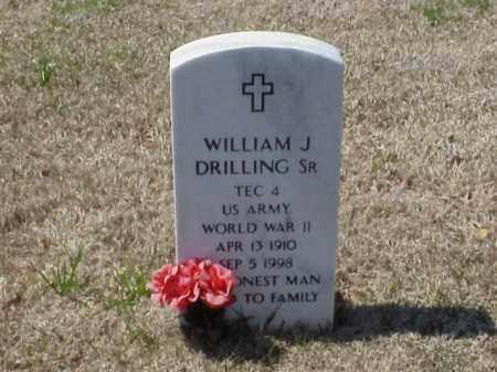 DRILLING (VETERAN WWII), WILLIAM J - Pulaski County, Arkansas   WILLIAM J DRILLING (VETERAN WWII) - Arkansas Gravestone Photos