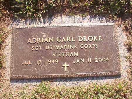 DROKE (VETERAN VIET), ADRIAN CARL - Pulaski County, Arkansas | ADRIAN CARL DROKE (VETERAN VIET) - Arkansas Gravestone Photos