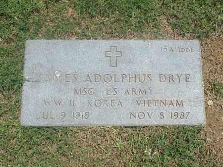 DRYE (VETERAN 3 WARS), JAMES ADOLPHUS - Pulaski County, Arkansas | JAMES ADOLPHUS DRYE (VETERAN 3 WARS) - Arkansas Gravestone Photos