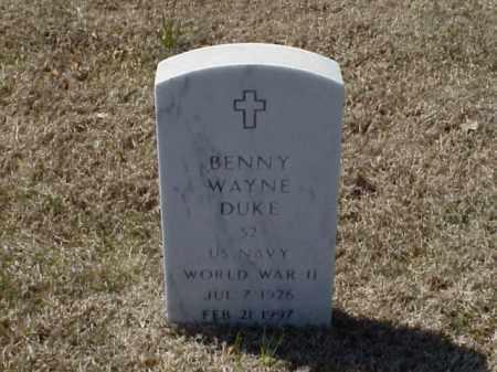 DUKE (VETERAN WWII), BENNY WAYNE - Pulaski County, Arkansas   BENNY WAYNE DUKE (VETERAN WWII) - Arkansas Gravestone Photos
