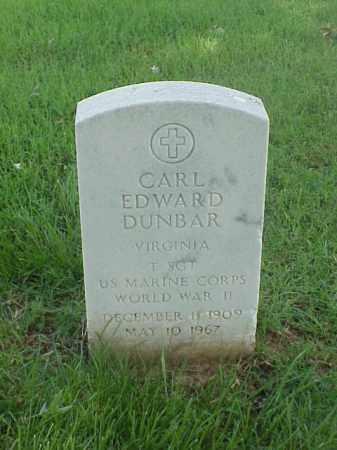 DUNBAR (VETERAN WWII), CARL EDWARD - Pulaski County, Arkansas | CARL EDWARD DUNBAR (VETERAN WWII) - Arkansas Gravestone Photos