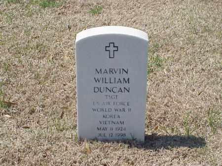 DUNCAN (VETERAN 3WARS), MARVIN WILLIAM - Pulaski County, Arkansas   MARVIN WILLIAM DUNCAN (VETERAN 3WARS) - Arkansas Gravestone Photos