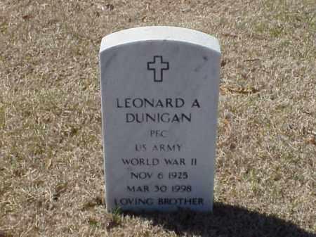 DUNIGAN (VETERAN WWII), LEONARD A - Pulaski County, Arkansas   LEONARD A DUNIGAN (VETERAN WWII) - Arkansas Gravestone Photos