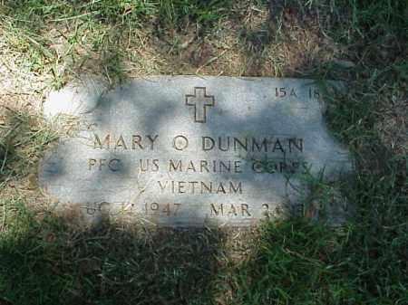 DUNMAN (VETERAN VIET), MARY O - Pulaski County, Arkansas   MARY O DUNMAN (VETERAN VIET) - Arkansas Gravestone Photos