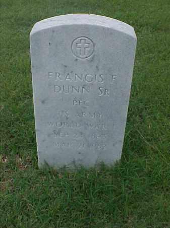 DUNN, SR (VETERAN WWI), FRANCIS F - Pulaski County, Arkansas | FRANCIS F DUNN, SR (VETERAN WWI) - Arkansas Gravestone Photos
