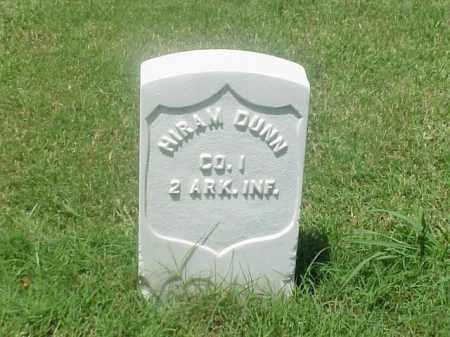 DUNN (VETERAN UNION), HIRAM - Pulaski County, Arkansas   HIRAM DUNN (VETERAN UNION) - Arkansas Gravestone Photos