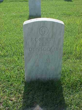 DUNSCOMB (VETERAN WWII), ROBERT E LEE - Pulaski County, Arkansas   ROBERT E LEE DUNSCOMB (VETERAN WWII) - Arkansas Gravestone Photos