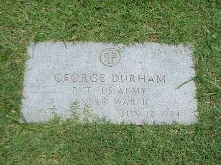 DURHAM (VETERAN WWII), GEORGE - Pulaski County, Arkansas   GEORGE DURHAM (VETERAN WWII) - Arkansas Gravestone Photos
