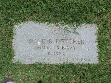 DUTCHER (VETERAN KOR), BOYD RHODES - Pulaski County, Arkansas   BOYD RHODES DUTCHER (VETERAN KOR) - Arkansas Gravestone Photos