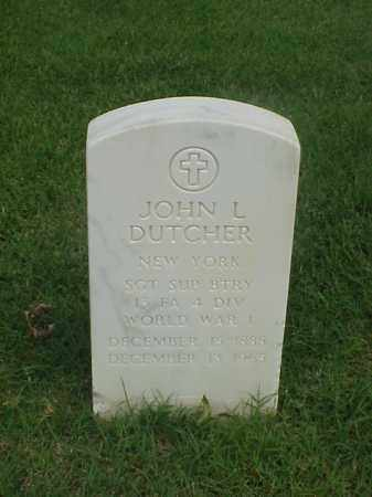 DUTCHER (VETERAN WWI), JOHN L - Pulaski County, Arkansas   JOHN L DUTCHER (VETERAN WWI) - Arkansas Gravestone Photos