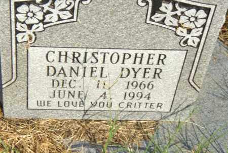 DYER, CHRISTOPHER DANIEL - Pulaski County, Arkansas   CHRISTOPHER DANIEL DYER - Arkansas Gravestone Photos